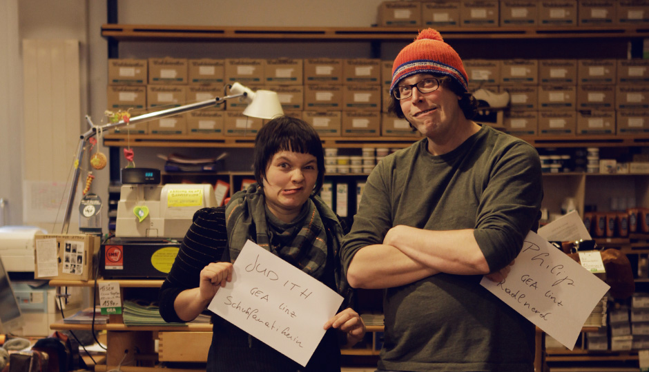 Die Schockoladenseite von Philip und seiner Kollegin Judith.