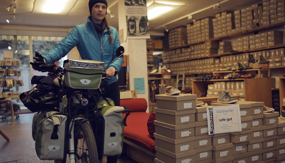 GEA ein toller Individueller Schuhladen. Unseren Fahrrädern gefällts auch!