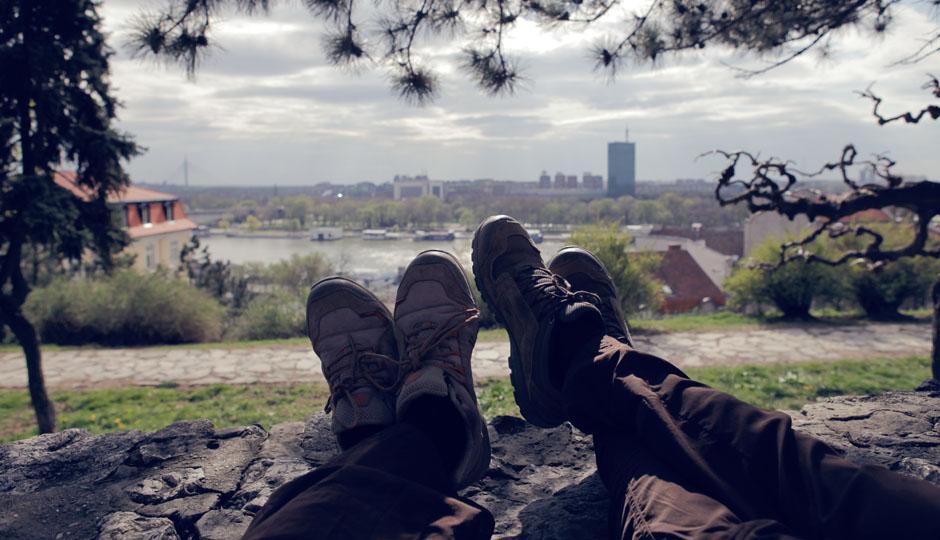 Füße hochlegen, nach dem Stadtrundgang.