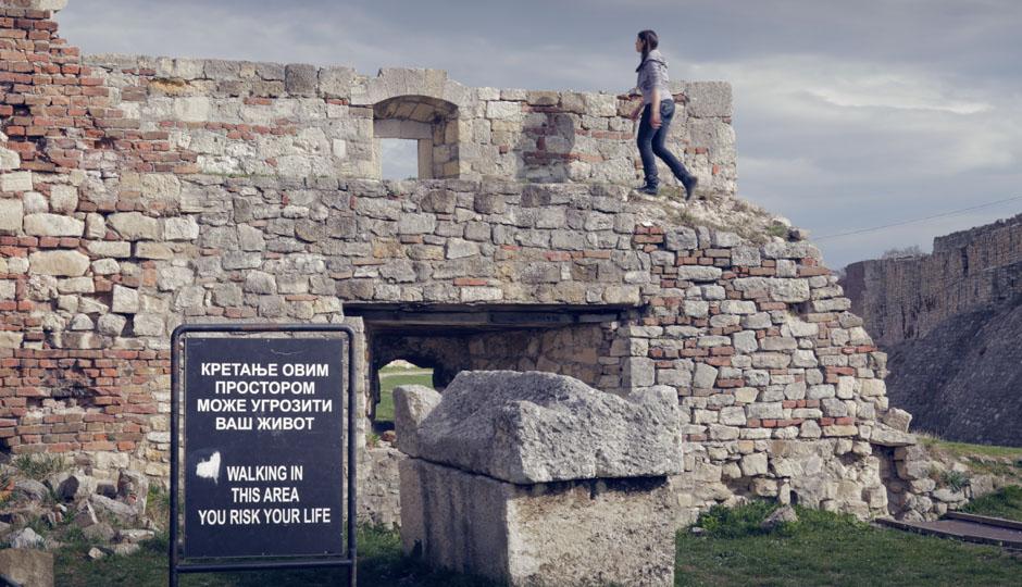 Wir besichtigen die Festung.