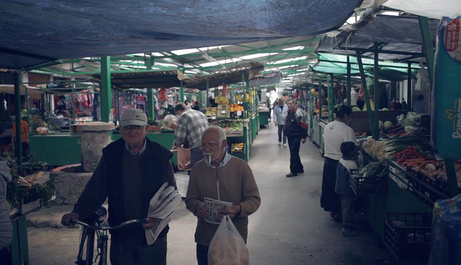 Markt in Kotez, dem kleinen Vorort, wo wir zur Zeit wohnen.