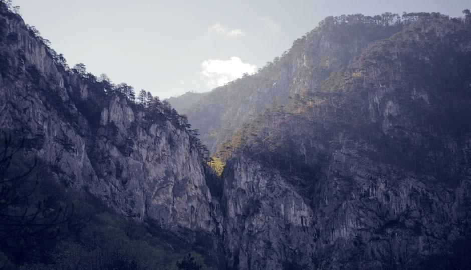 Blick von Herculane in Richtung Domogled.