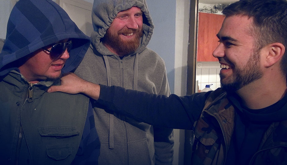 """Die drei von der Fischerhütte, """"Simba"""", """"Kollege"""" und Ivan"""