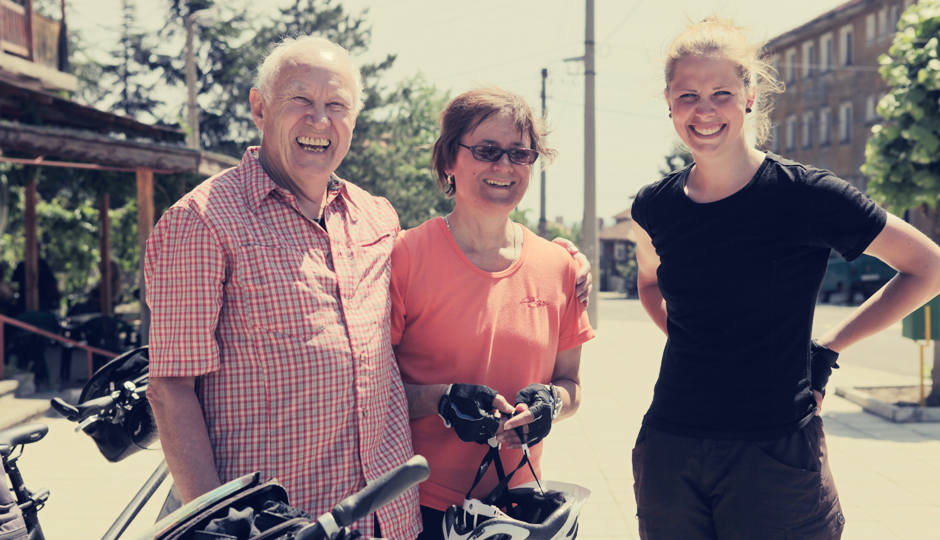 Und die Radler Jürgen und Anita. Ebenfalls aus Deutschland.