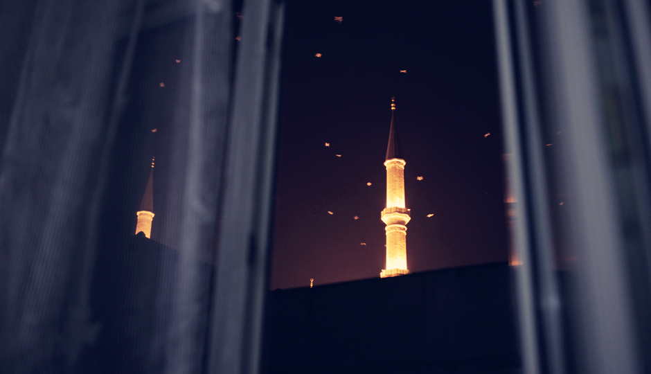 Blick aus unserem Fenster: Die Fatih Moschee