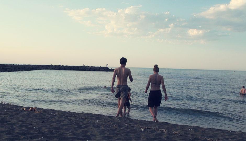 Das Schwarze Meer ist nun warm genug zum Baden! Und das Wetter sowieso...
