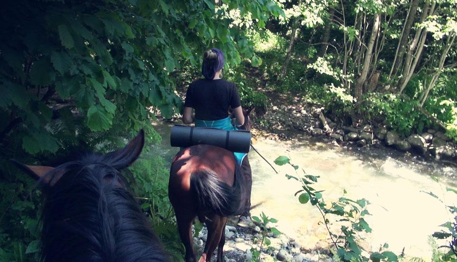 Immer wieder stellt sich uns der Fluss in den Weg