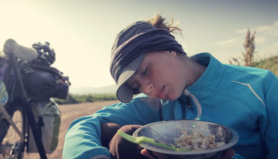 6:00 Uhr! Los gehts! Aufwachen! Frühstücken! Rad fahren!