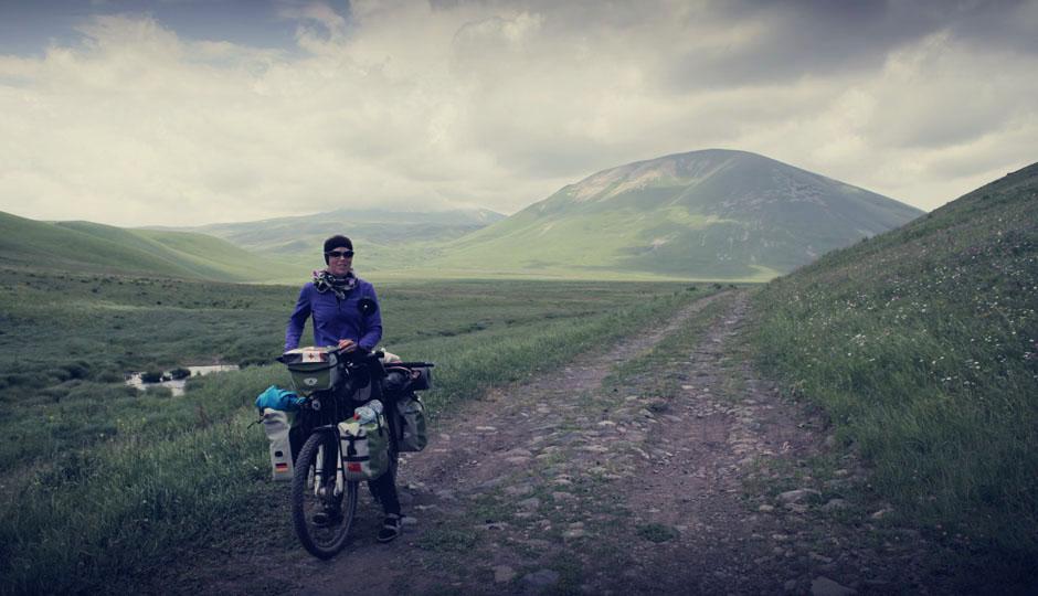 Irgendwie sehe ich aus, wie bei einer Himalaya-Expedition...
