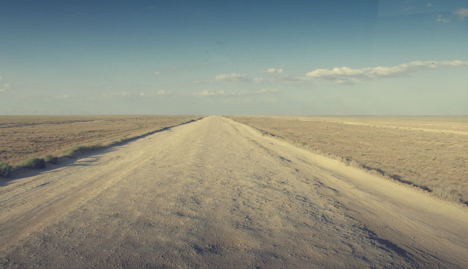 Kaum zu glauben, dass sich die Aussicht die nächsten 500 Km nicht ändern wird!