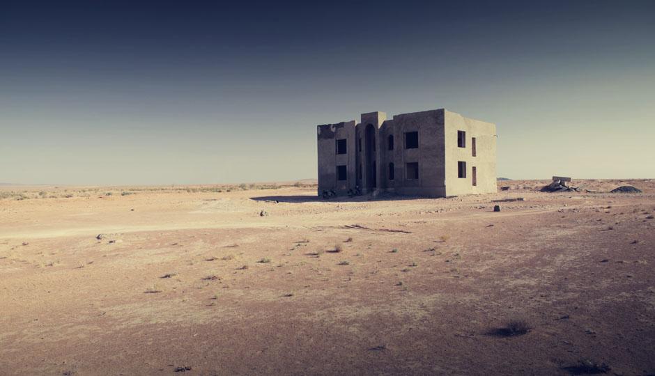 Das verlassene Haus in der Wüste.