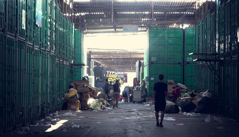 Auf dem Bazar Dordoi. Eine riesige Stadt aus Schiffscontainern