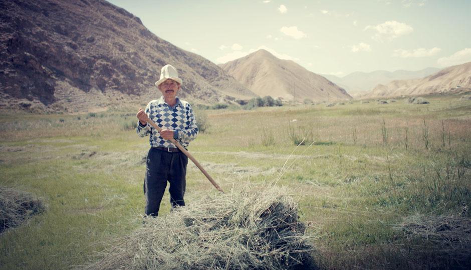 Der in Kirgisistan typische Filzhut