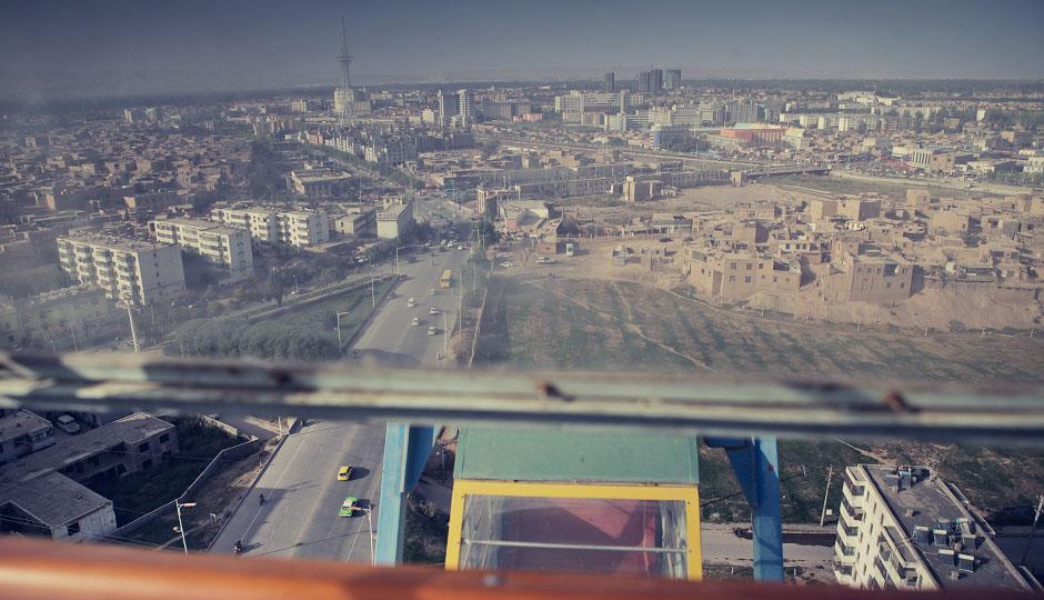 Blick auf die Altstadt und die Neubauten
