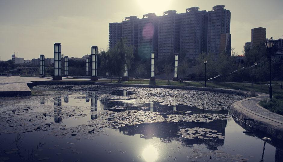 Der künstlich angelegte See