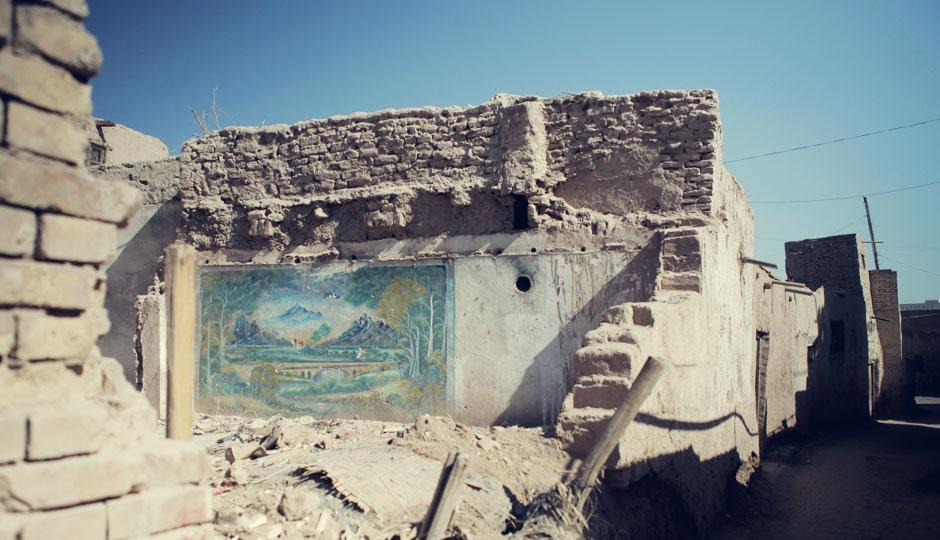 Viele der Lehm-Häuser sind nur noch Ruinen