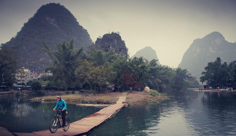Ohne Gepäck auf Erkundungstour in der Umgebung von Yangshuo