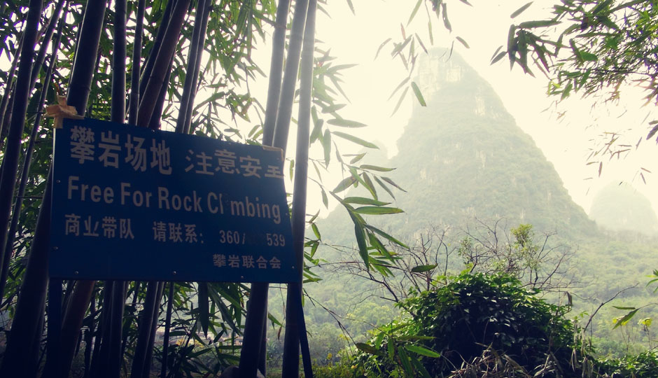 Yangshuo ist eines der bekanntesten Klettergebiete Chinas