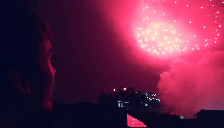 Anlässlich des Fischerfestes gibt es ein gigantisches Feuerwerk